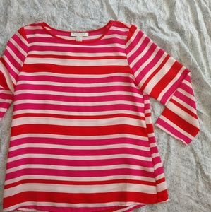 Forever 21 pink & red lightweight blouse size S